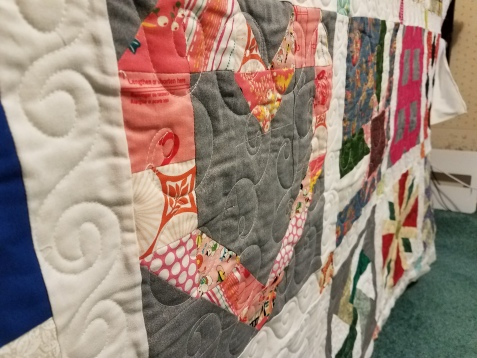 sampler quilt from Quiltmaker 100 block magazinby Vicki Holloway